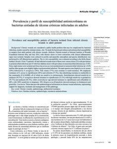 Prevalencia y perfil de susceptibilidad antimicrobiana en bacterias aisladas de úlceras crónicas infectadas en adultos