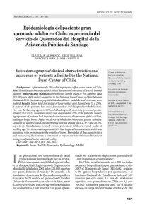 Epidemiología del paciente gran quemado adulto en Chile: experiencia del Servicio de Quemados del Hospital de la Asistencia Pública de Santiago
