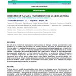 DIRECTRICES PARA EL TRATAMIENTO DE ÚLCERA VENOSA