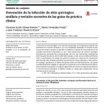 Prevención de la infección de sitio quirúrgico: análisis y revisión narrativa de las guías de práctica clínica